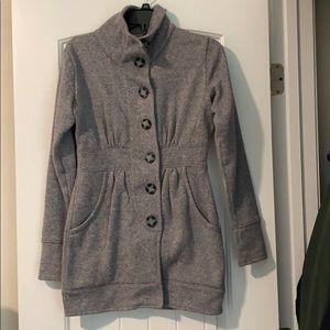 Avalanche knit hip length pea coat size xs